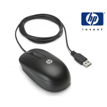 Brand New HP Wired Optical Mouse USB (672652-001) 3 Button Black