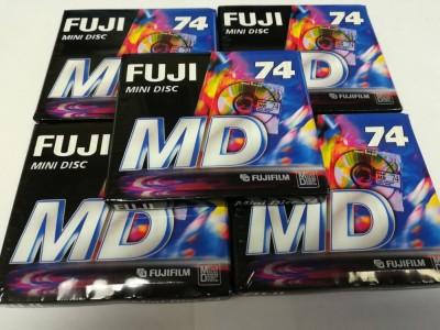 5 x Fuji MD 74 Mini Discs - 74 Minutes